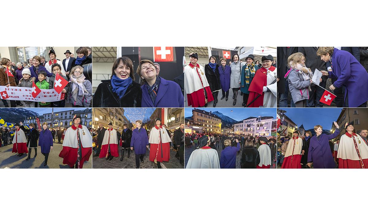 Bundesratsempfang Brig Wallis Presse Viola Amherd Politik Portrait