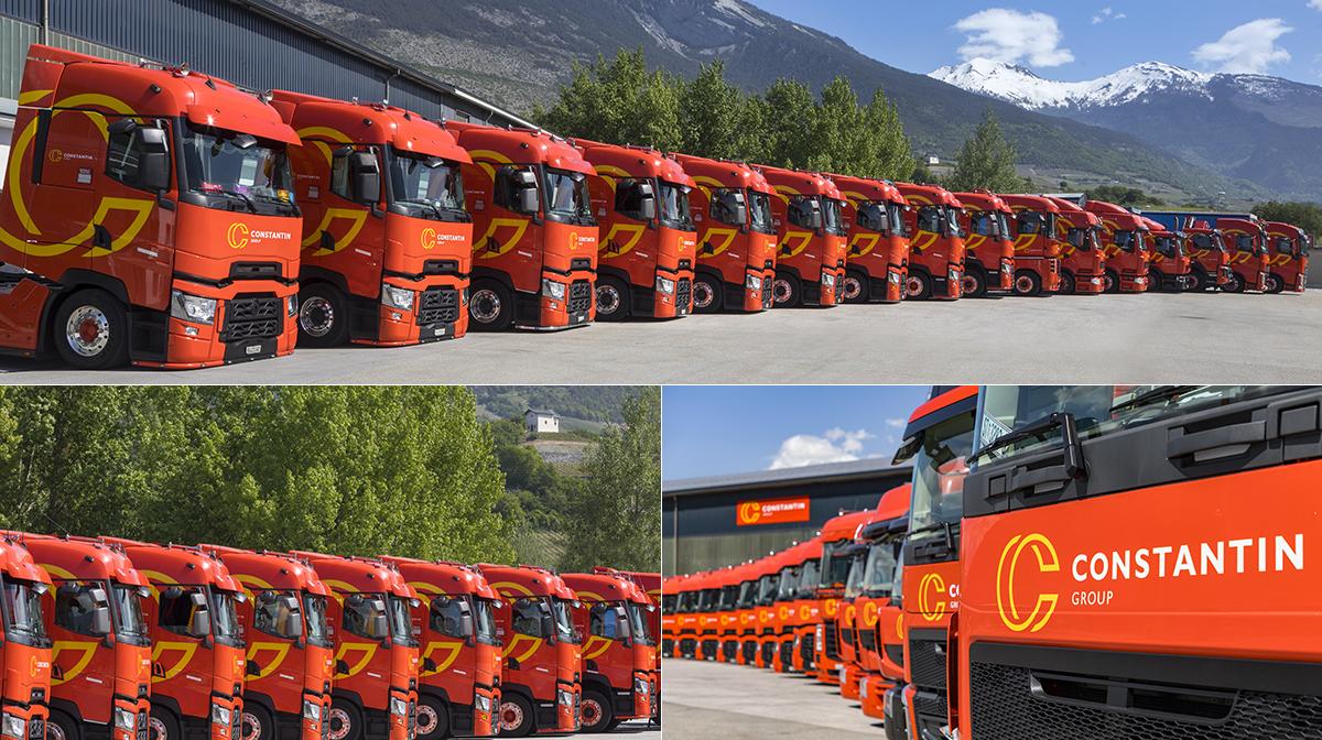 Lastwagen Werbung Fuhrpark Camion Constantin