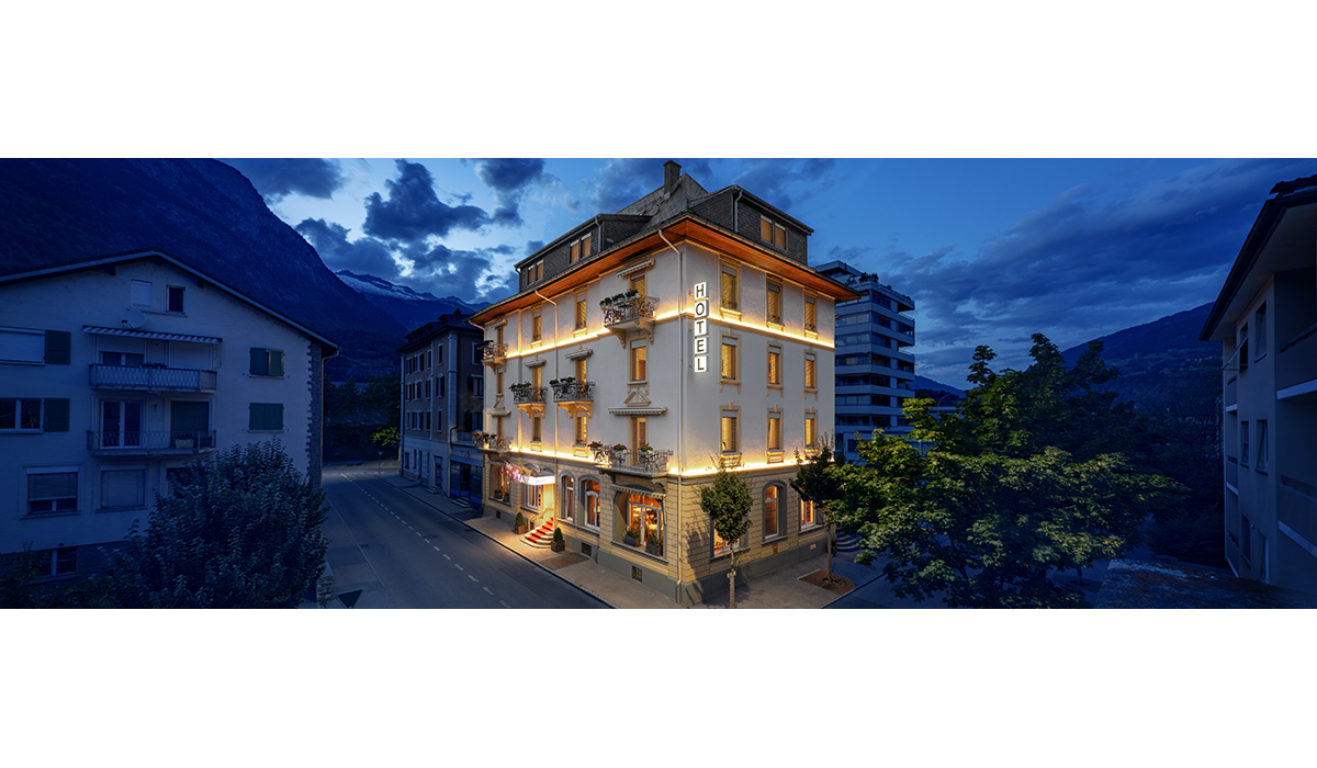 Hotel Ambassador Brig Nacht Tourismus Fotografie