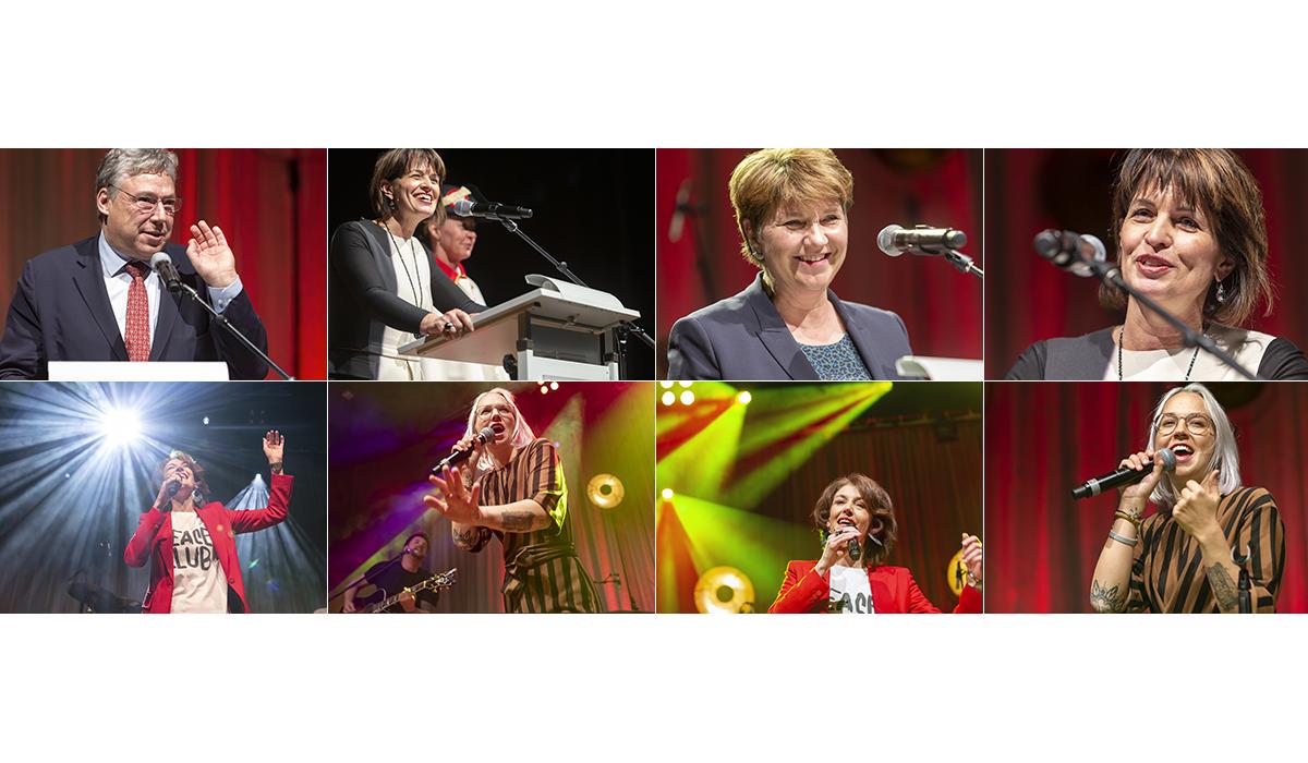 Bundesratsempfang Brig Wallis Presse Viola Amherd Stefanie Heinzmann Sina Politik Portrait