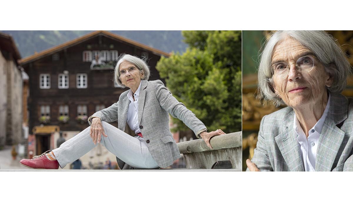 Portrait Fotografie Musikdorf Ernen Donna Leon Schriftstellerin