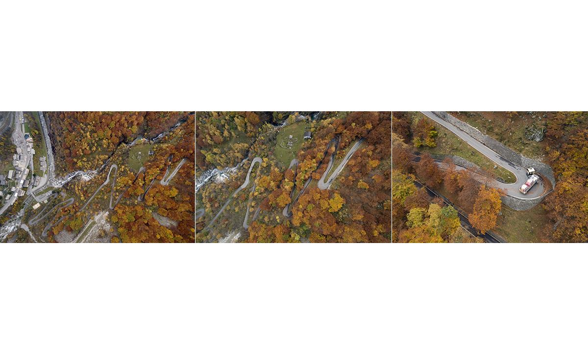 Drohne Fotografie Gondo Zwischbergen Herbst