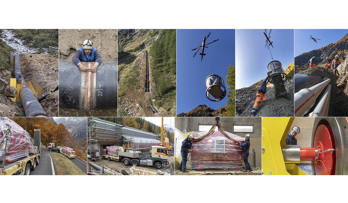 Baureportage Fotografie Baudokumentation Kraftzwerkbau Tannwald Alpiq