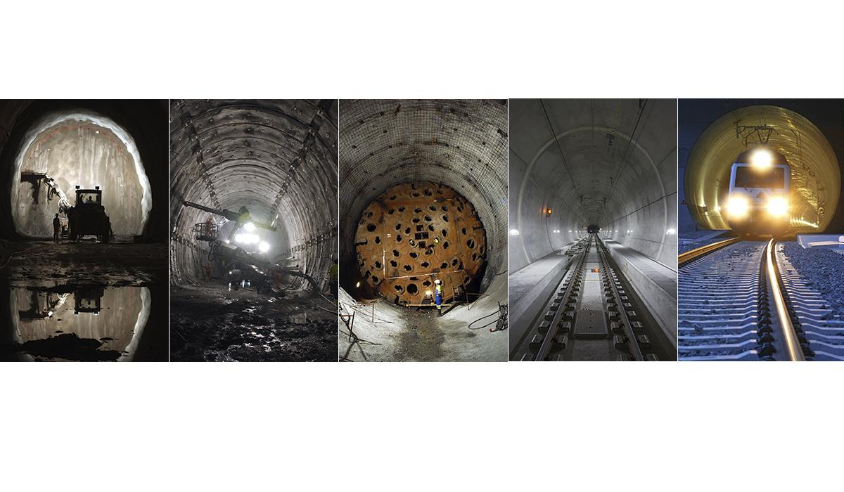 Baureportage Fotografie Baudokumentation NEAT Tunnelbau