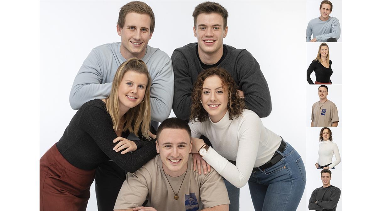 Portrait Gruppenbild Familienfotos Teamfoto