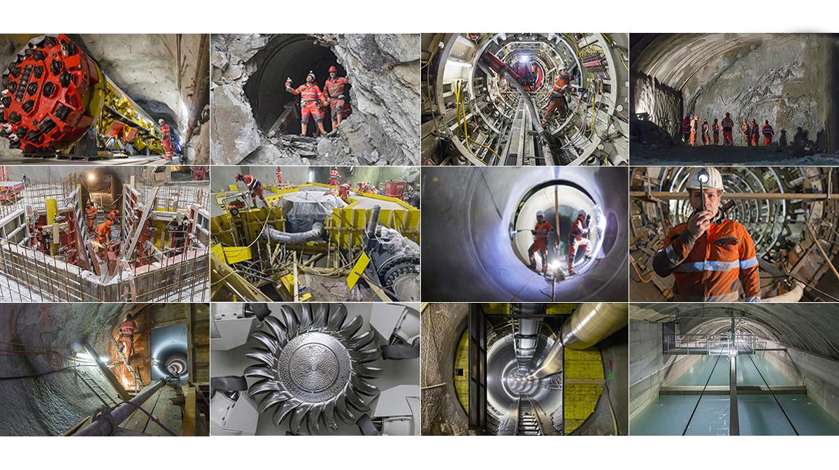 Baureportage Fotografie Baudokumentation Tunnelbau Kraftwerkbau FMV