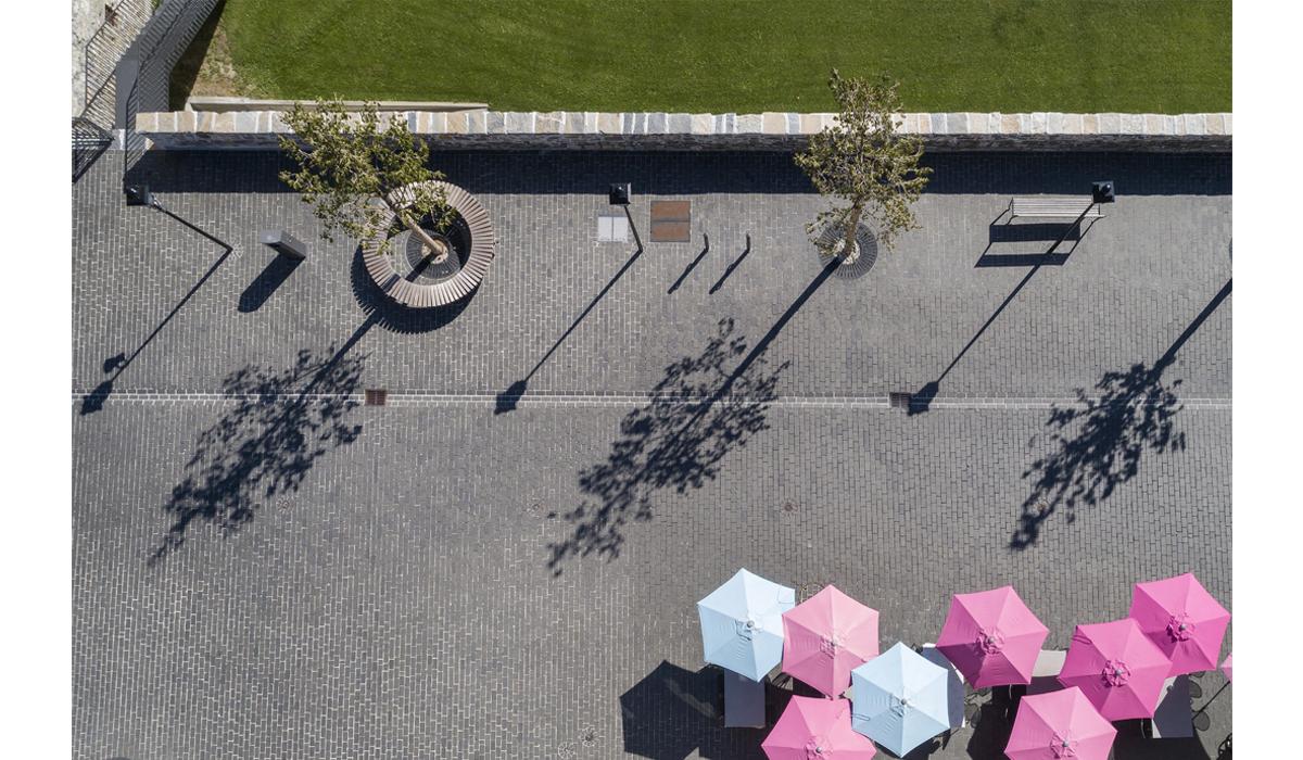 Drohne Rathausplatz Leuk Fotografie