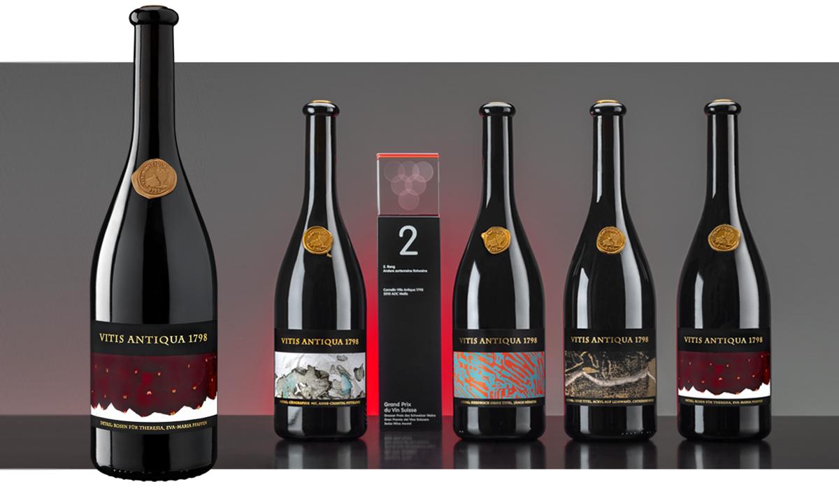 Wein Food Flaschen Vitisantiqua