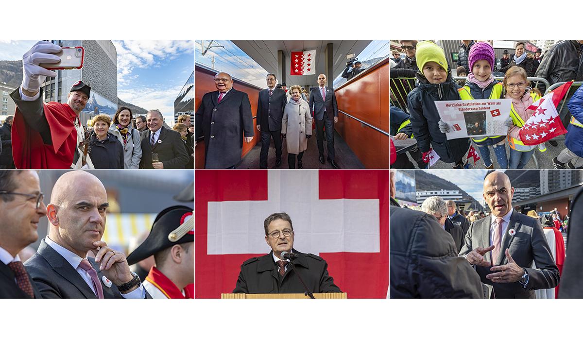 Presse Jean René Fournier Bundeshaus Politiker Wallis