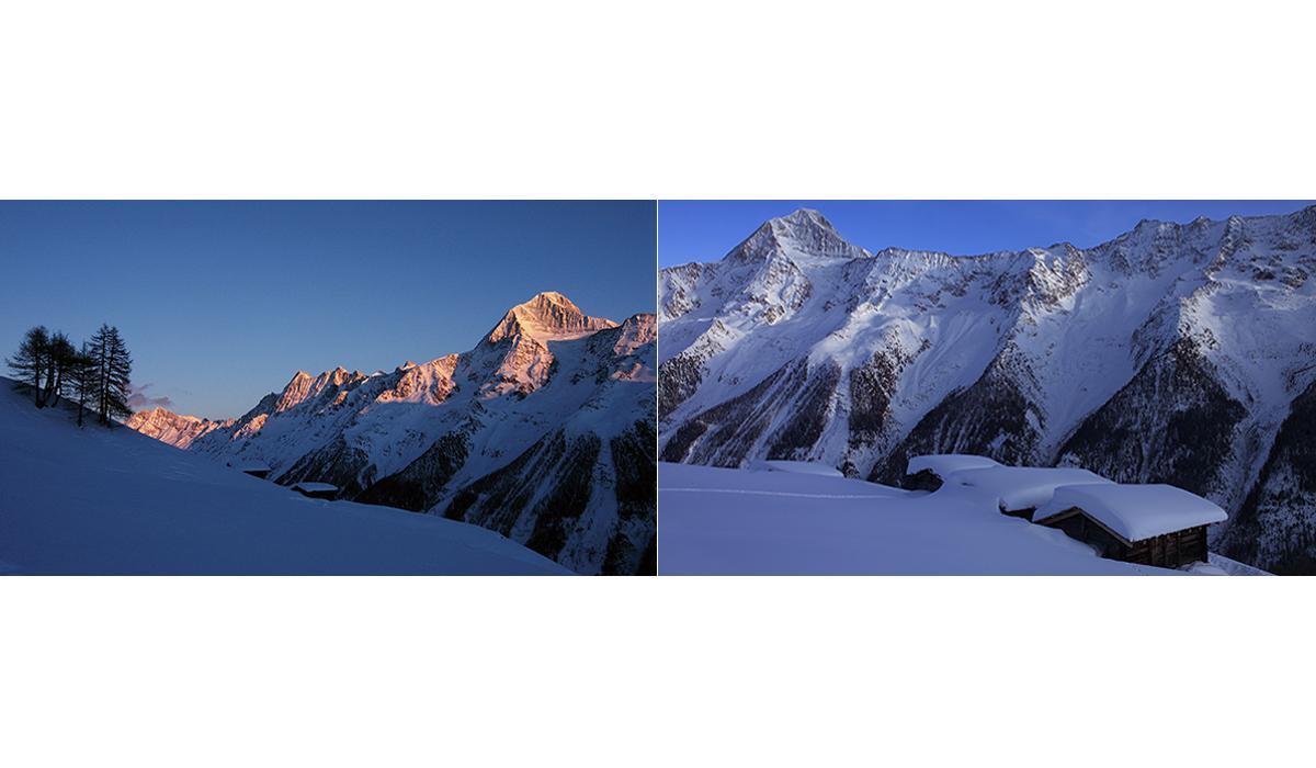 Werbefotografie Tourismus Werbung Natur Landschaft Bietschhorn Lötschental