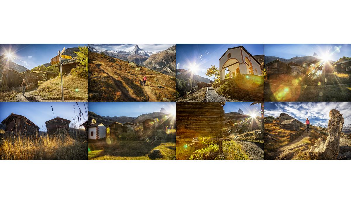 Werbefotografie Tourismus Werbung Natur Landschaft Zermatt Matterhorn Blatten