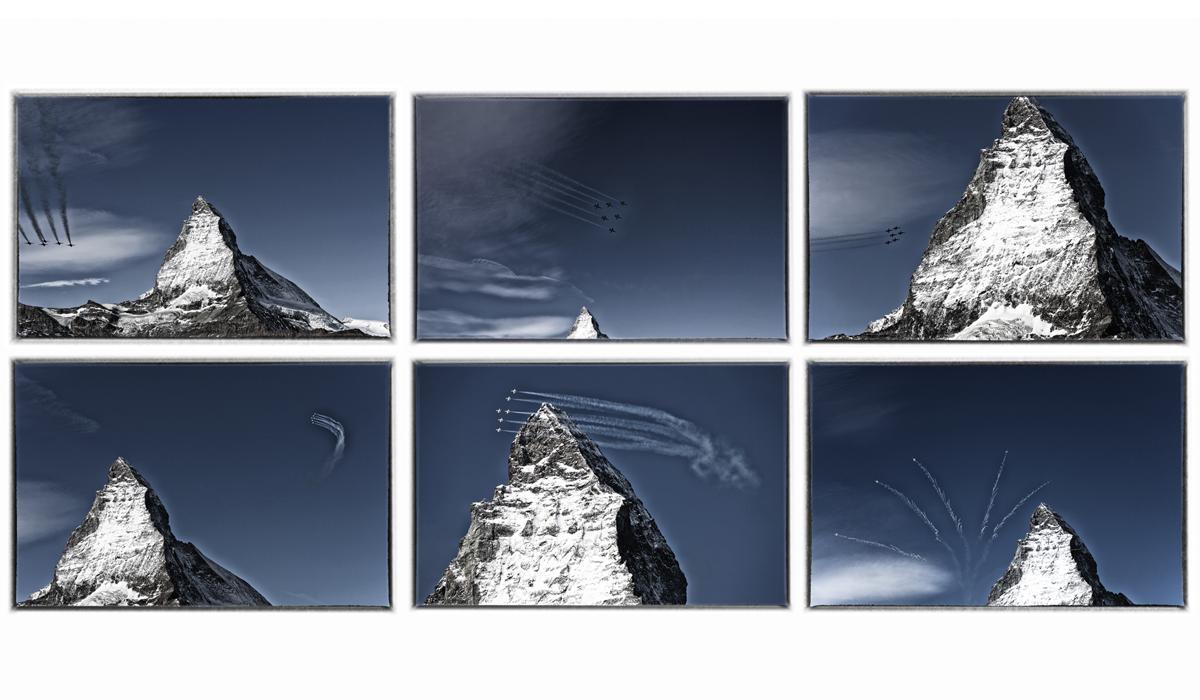 Werbefotografie Tourismus Werbung Natur Landschaft Zermatt Matterhorn Patrouille Suisse Armee 02